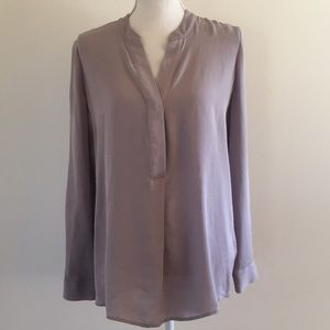 Marciano Silk Lavender Long Sleeve Blouse